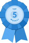 Weekly leaderboard badge
